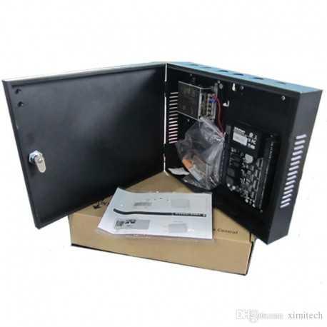 Controladora para 1 puerta TCP/IP wiegand, con caja metalica y fuente de alimentación