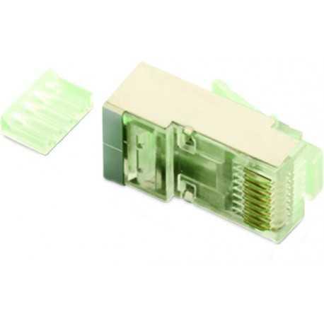 Conector RJ45 FTP Flex/Rigido Cat 6 con Guía. GTLAN 50CFFR6