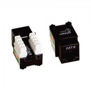 Keystone CAT6 UTP, Hembra 90º, con protector contra polvo