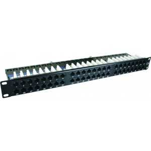 "Patch panel 48 puertos 19"" Cat5e UTP"