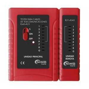 Tester de comprobación de redes RJ45, RJ11, RJ12. ECO
