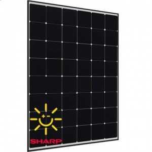 Panel solar policristalino Sharp de 256W. 48 celdas. Eficiencia del 19.8%. Funcionamiento lineal hasta 25 años