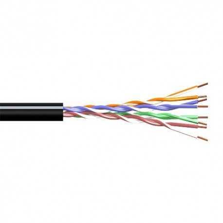 CAB-UTPCAT5EXT. Cable rígido Rígido Aluminio. Cobreado Caja 305m