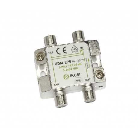 Derivador 2 salidas (5-2400Mhz) 25 dB.