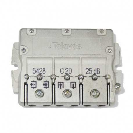 Derivador 2 direcciones, 25 dB C (plantas 7...12).
