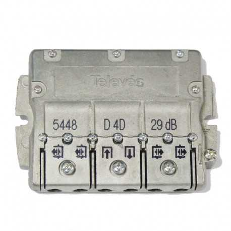 Derivador 4 direcciones, 25 dB C (plantas 4, 5).