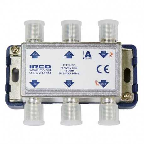 Derivador 4 líneas, 30dB, 5-2300 MHz.