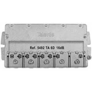 Derivador 6 líneas, 16dB, 5-2400 MHz (planta 1). Televés 5492