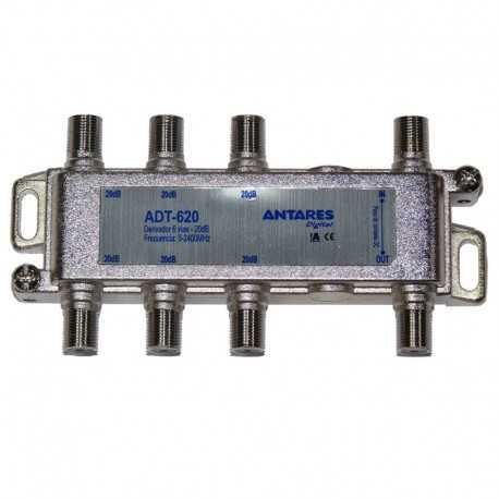 Derivador 6 líneas, 20db.5-2400MZh. Antares