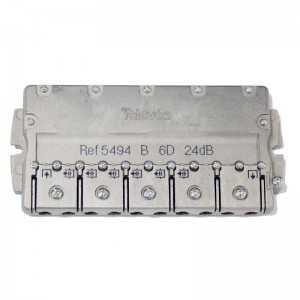 Derivador 6 salidas. 24dB. Plantas 4 y 5
