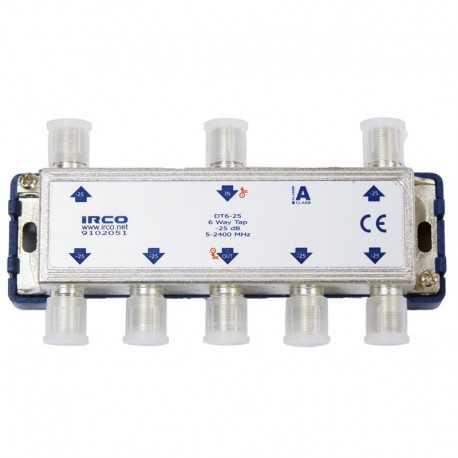 Derivador 6 líneas, 25dB, 5-2300 MHz.