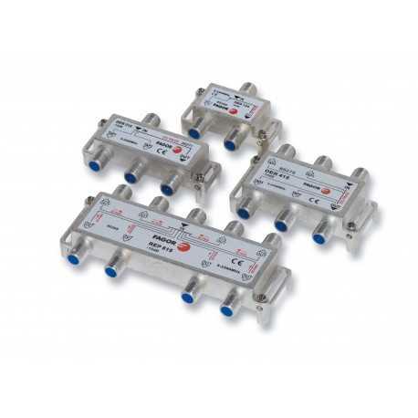Derivador serie HG 5-2400 MHz, 4 Salidas, 15 dB.