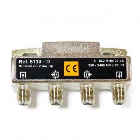 Derivadores a conectores F que pueden trabajar hasta los 2400 MHz.,2 direcciones 27 dB D.