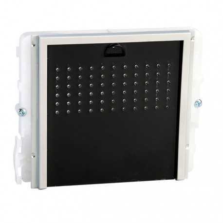 Modulo audio sin pulsador con embellecedor negro para placa Ikall, Comelit