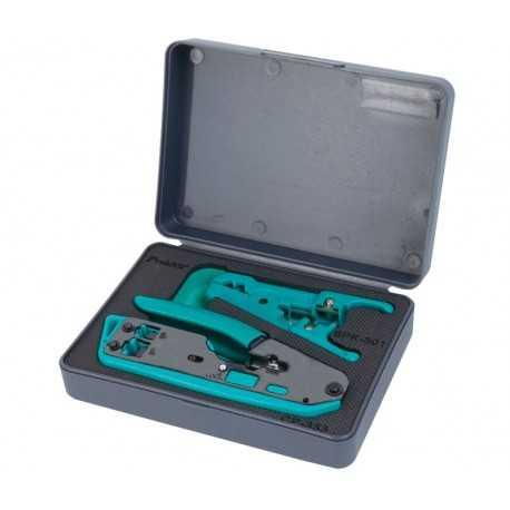 Kit de herramientas para redes y telefonía con maletín