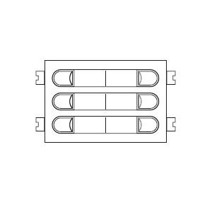 Módulo de pulsadores para placas CityMax, sistema 4+n