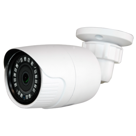 Cámara bullet 4 en 1, 720p, 3,6mm, IR 20mts. IP66, blanca.