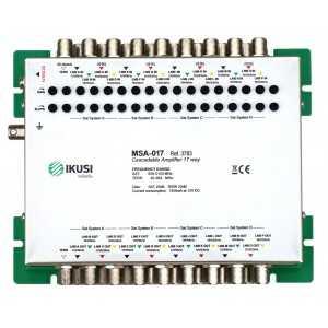 Amplificador de 17 E (16 SAT+ 1 TDT), 10 salidas (10 para el usuario),25-22dB,115/107dB