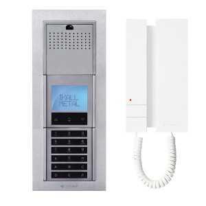 Kit AUDIO SB con telefonillo MINI, con placa IKALL para 6 viviendas.