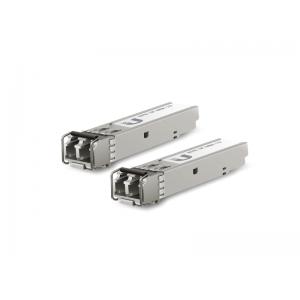 Pack de módulos SFP x2 LC (1.25G SM 20kmT1550nm/R1310n), 300mts