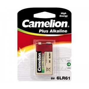 Paquete de 1 pila Alcalina 6LR61 9V BLOCK, Alcalina