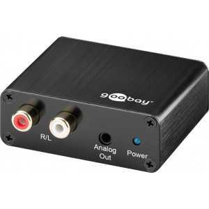 Conversor de Audio digital (toslink) a RCA con alimentación a través de USB