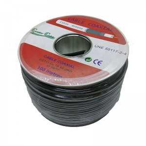 Cable coaxial 28,2dB a 2150Mhz. 7mm. Malla y lámina de alumino. Exterior. PE