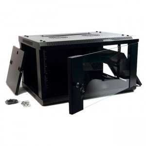 """Rack de pared 19"""", 9U. F 450 / AN 600 / AL 500mm, Sin Accesorios"""