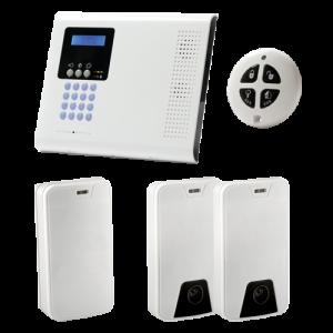 Kit de alarma vía radio Grado 2 con videoverificación 2 PIR CAM. Electronics Line
