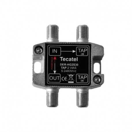 Derivador serie HG 5-2400 MHz, 2 Salidas, 15 dB.