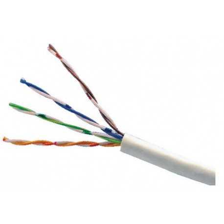 Cable UTP Rigido CAT5e, Polietileno Blanco, para exterior. 305mts