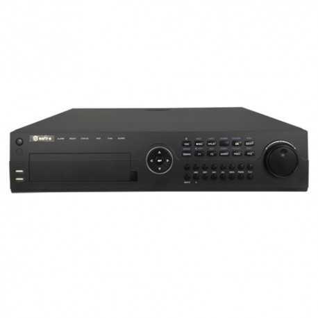 NVR IP hasta 64 canales, 4K, 12Mpx, 320Mbps, salida HDMI 4K. SAFIRE