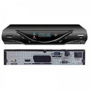 Receptor TV SAT HD, EPG, x2 USB, Salida AV y RS232, PVR