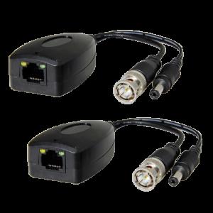Transceptor pasivo video y alimentación a par trenzado RJ45. (Balun) 2uds