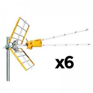 Antena UHF V Zenit (C21-60), V HD 790, G 15dBi embalaje de 6 unidades. Televés