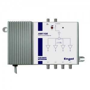 Amplificador 1ent. 4 ,salidas. 12dB ganancia, 122dbuV. Engel