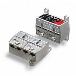Distribuidor de 2 salidas, FI, formato puente-brida, bajas perdidas. -4,5dB. Fagor