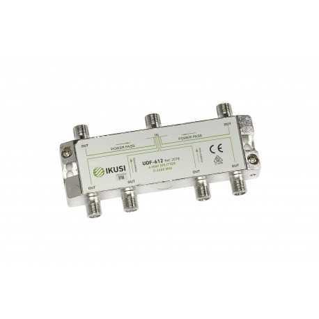 Distribuidor de 6 salidas, 5-2.400 MHz con conector F