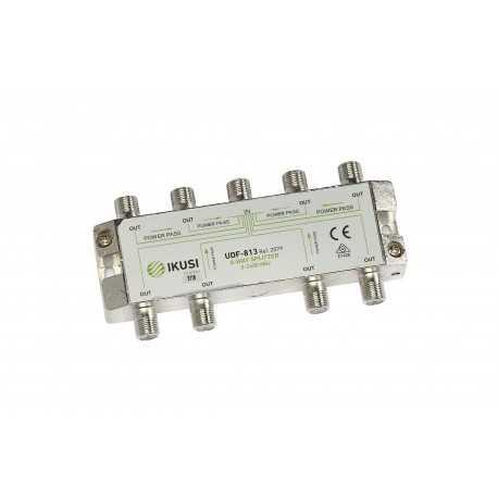 Distribuidor de 8 salidas, 5-2.400 MHz con conector F