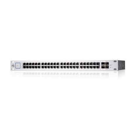 UniFi Switch de 24 puertos GIGABIT, PoE de 24V pasivo y 2 puertos SFP para realizar conexión de fibra.