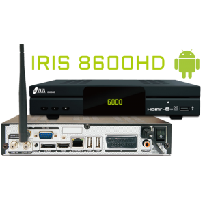 Receptor Android SAT (S2), HD, H.265, 1 Lector tarjetas, Wifi USB integrado