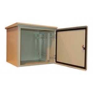 """Rack de pared 19"""" para exterior, IP55 y 9U, F400 / AN600 / AL524mm con baño especial para ambientes marino (ambiente hostil)"""