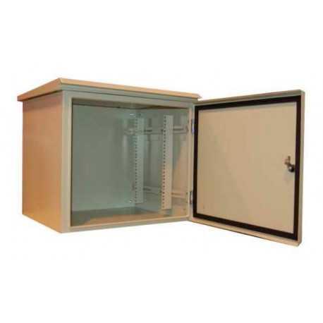 """""""Rack de pared 19"""""""" para exterior, IP55 y 12U. F 400 / AN 600 / AL 658mm, con baño especial para ambientes marino (ambiente hos"""