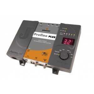Cabecera programable (alta ganancia) 6 grupos de 7 canales. 56 MHz de ancho de banda, (45 dB / 116 dBuV según entrada). Sin ven