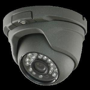 Cámara domo 4 en 1, 1080p, 3.6mm, IR 20mts. IP66, negra