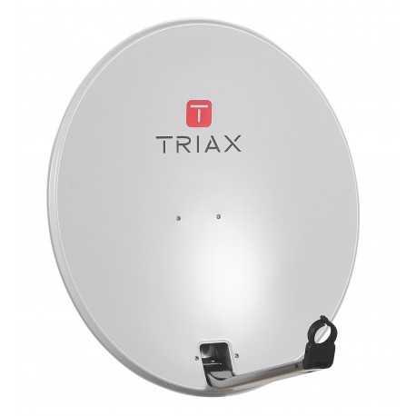 Antena parabólica de 65x60cms. 35,8dB. Acero, muy resistente. Embalaje individual