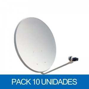 Antena parabolica 60x54cms, acero, base fija. Embalaje de 10 unidades