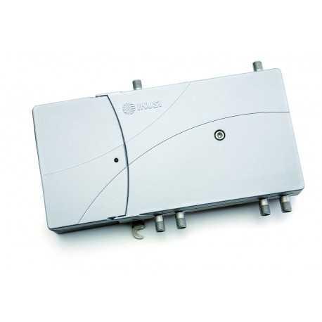 Amplificador de extensión dobles 2150 MHz ICT. 2 Entradas RF TV y FI 2xFI Ganancia: TDT 35dB SAT 40dB.