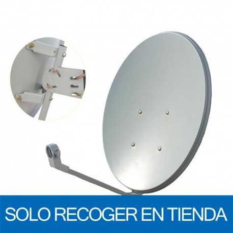 Antena parabólica de 61,4x55cms, 35,83dB, acero galvanizado. Sin embalaje. Solo recoger en tienda