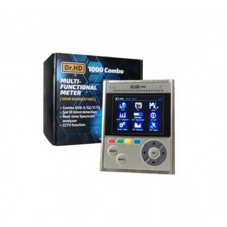 Medidor de campo económico DVB-S/S2, DVB-T/T2, USB, CCTV función (RCA audio+video), soporta WIFI, Real-time Spectrum 9fps (110m